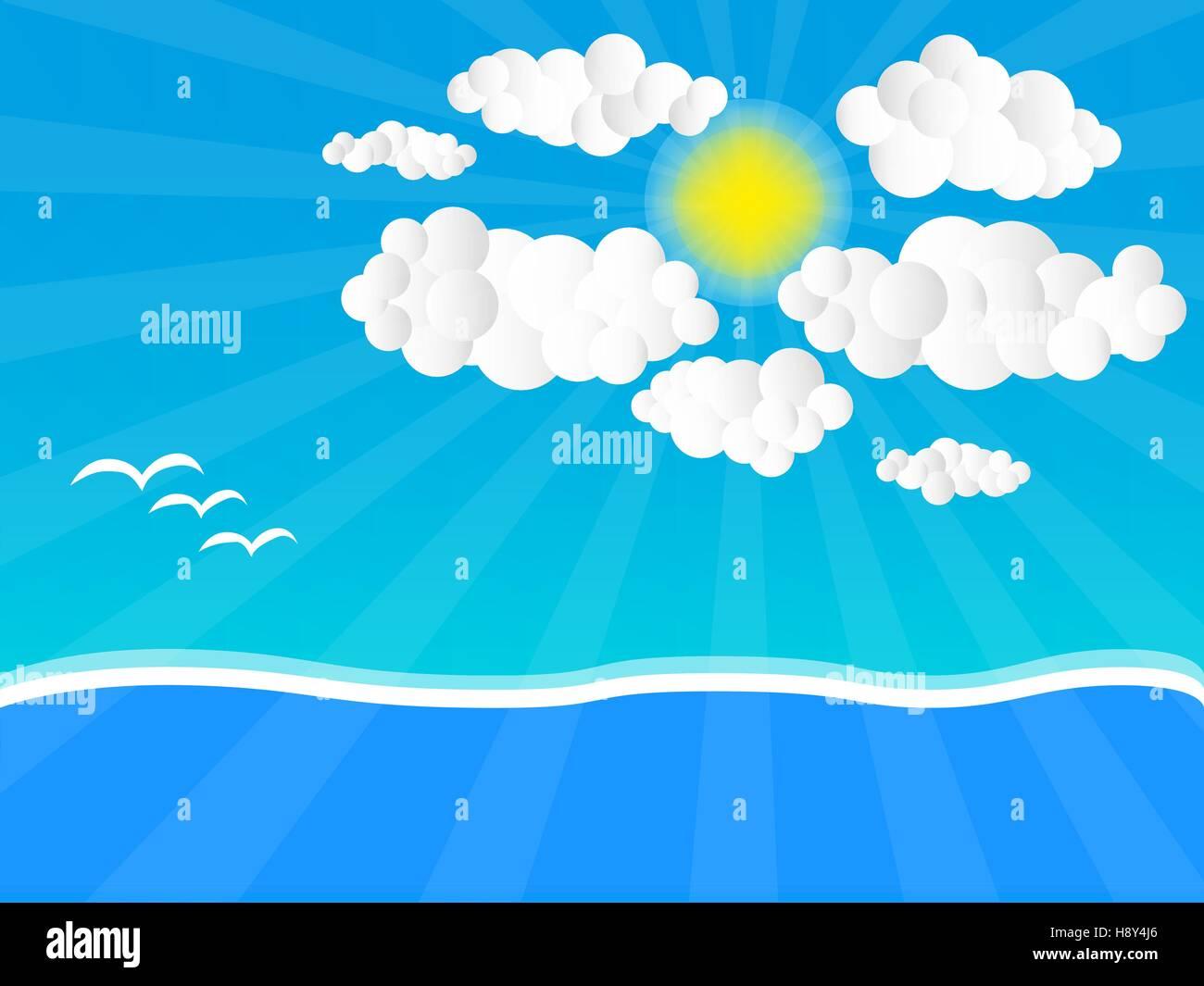 Sunny Day Vector - Stock Vector