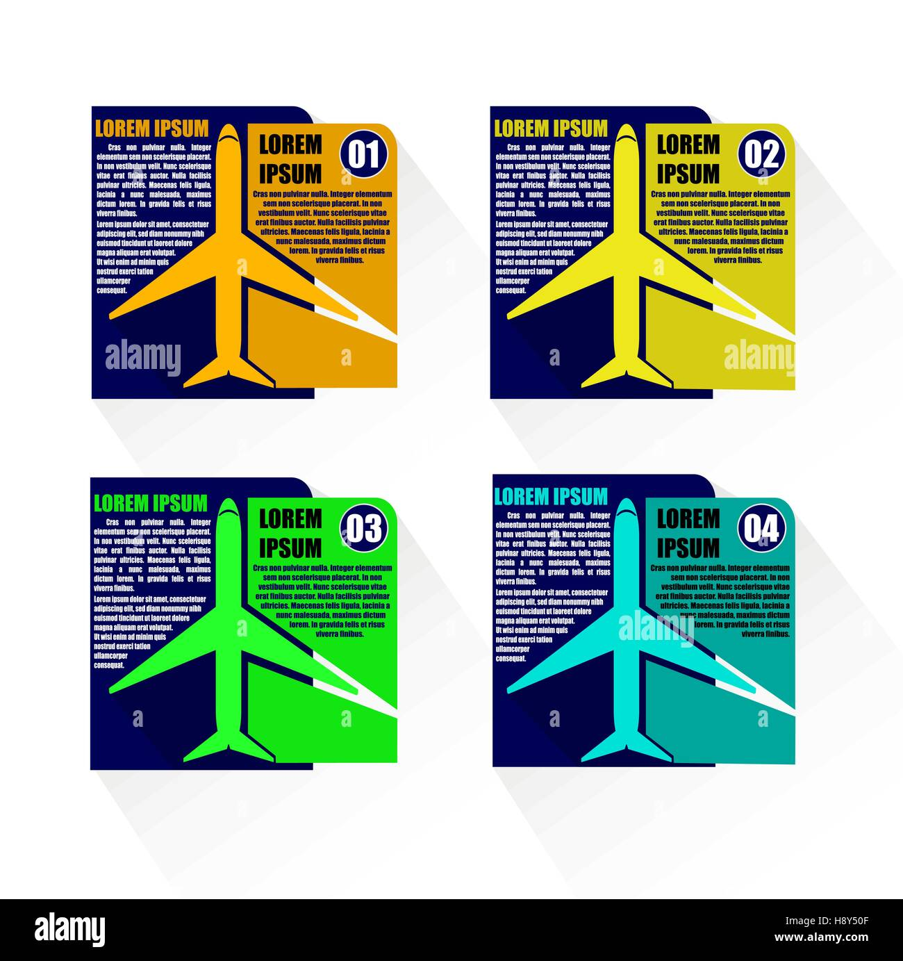 AIRPLANE INFOGRAPHIC TEMPLATE VECTOR ILLUSTRATOR - Stock Image