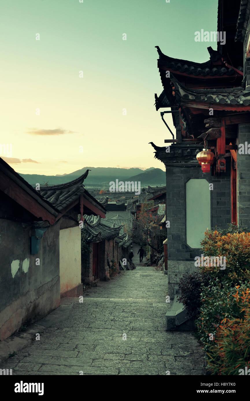 Old street view in Lijiang, Yunnan, China. - Stock Image