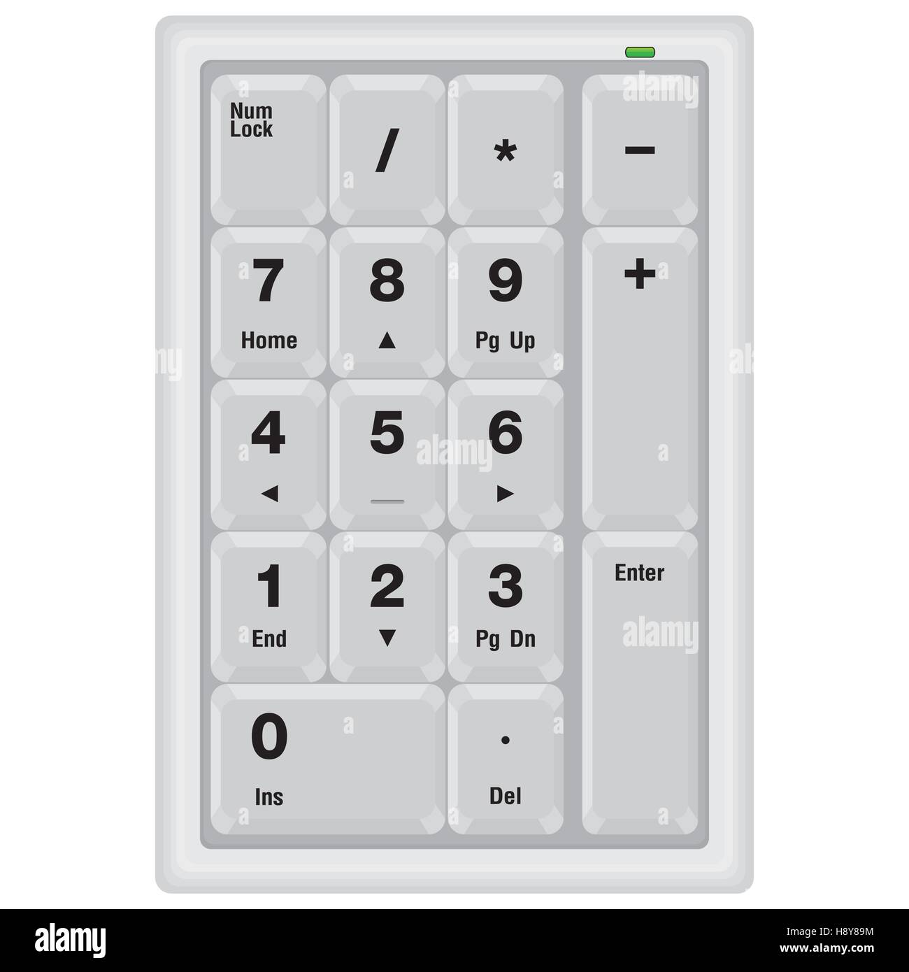 keyboard, computer, numeric, key, keypad, pad, button, number, illustration, enter, isolated, type, equipment, input, - Stock Image