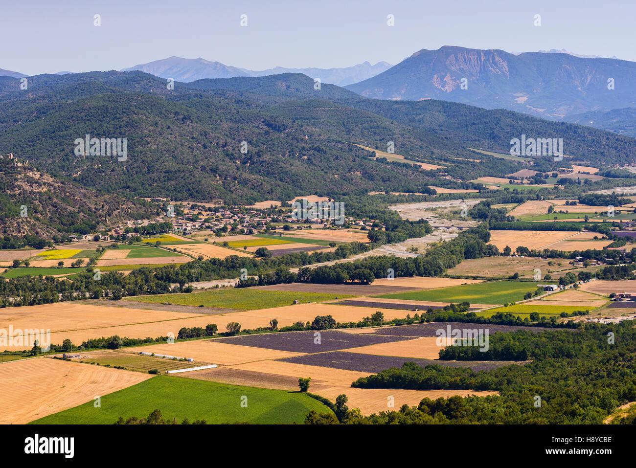 Paysage et Montagne Region de Venlensole Haute Provence France 04 - Stock Image