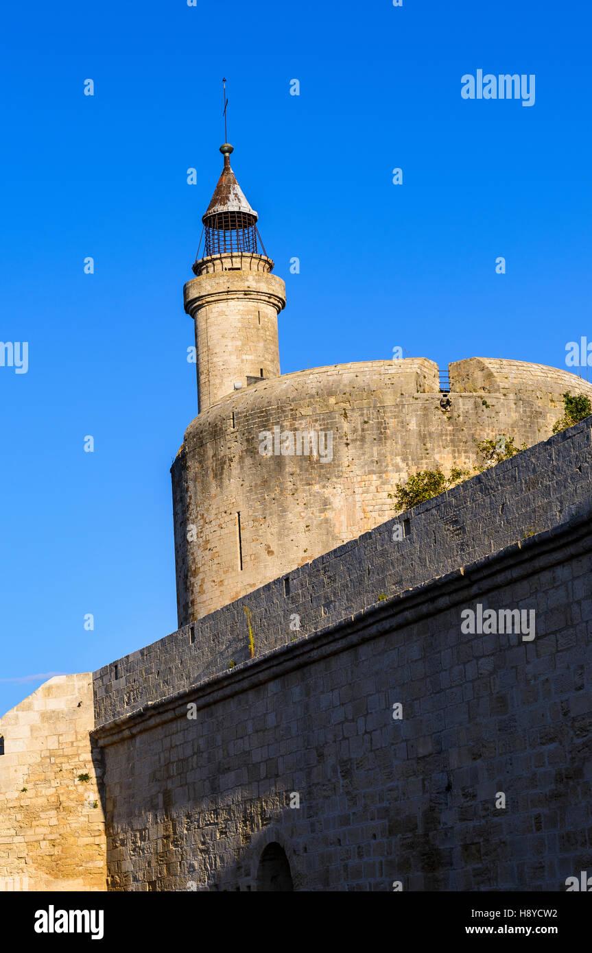 La tour Constance les ramparts Aigues Mortes Camargue France 30 - Stock Image