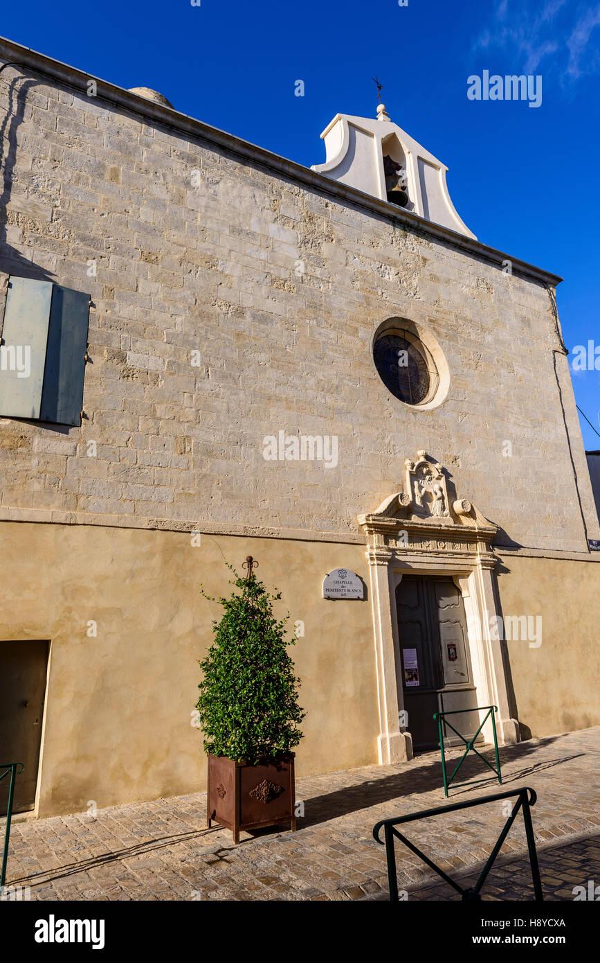 Petite Chapel d'Aigues Mortes les Ramparts Camargue France 30 - Stock Image