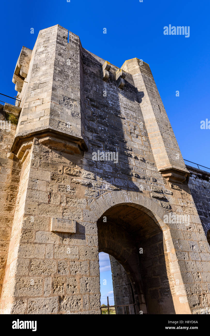 Les Remparts Aigues-Mortes,Camargue FRANCE 30 - Stock Image
