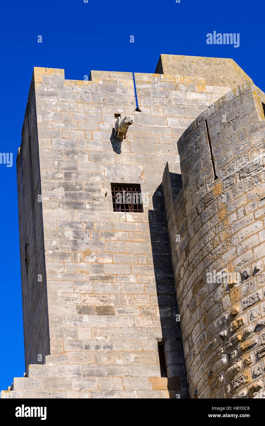 Les ramparts d'Aigues Mortes Camargue France 30 - Stock Image