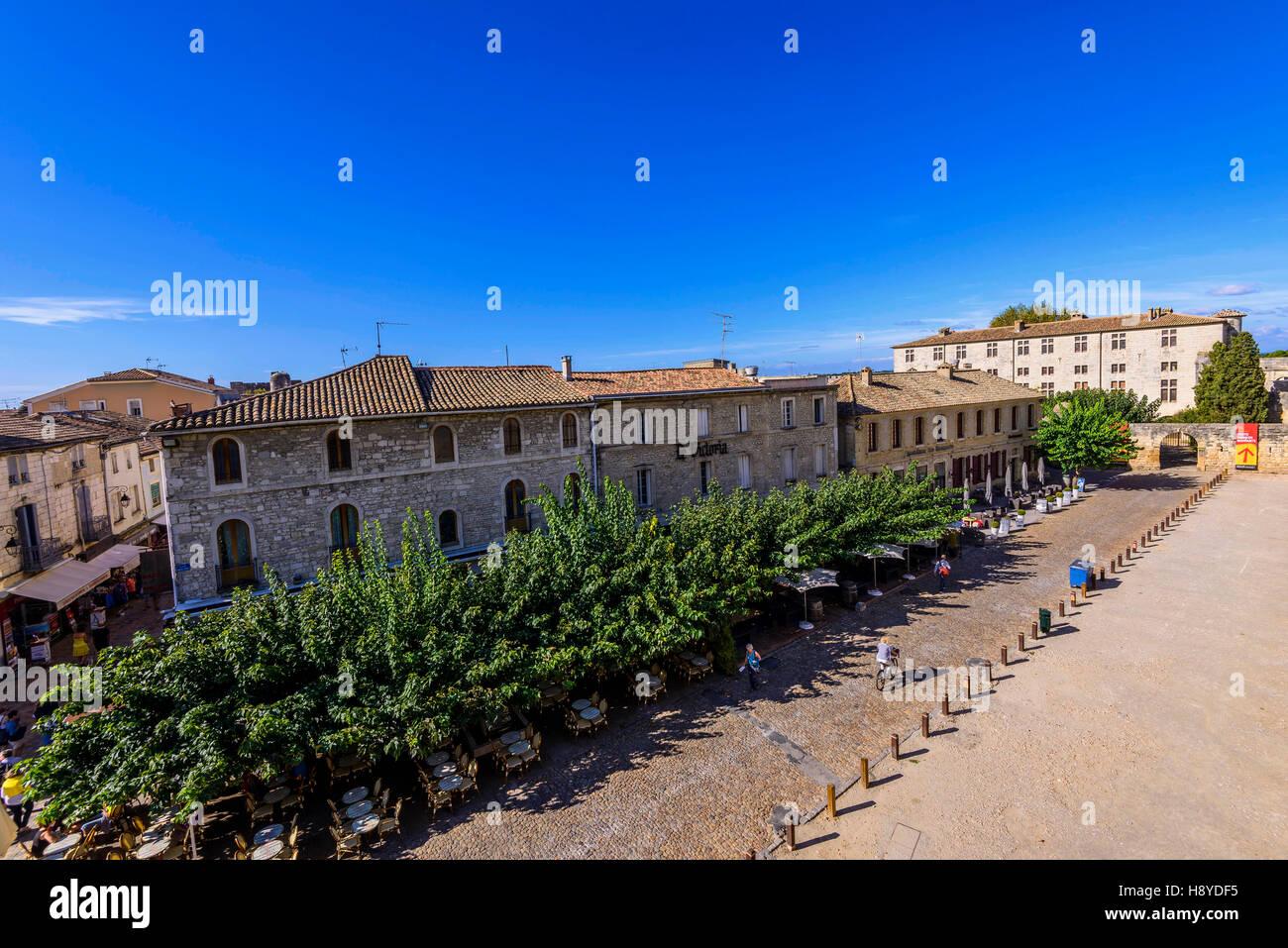 Vue des Remparts sur  Aigues-Mortes,Camargue - FRANCE 30 - Stock Image
