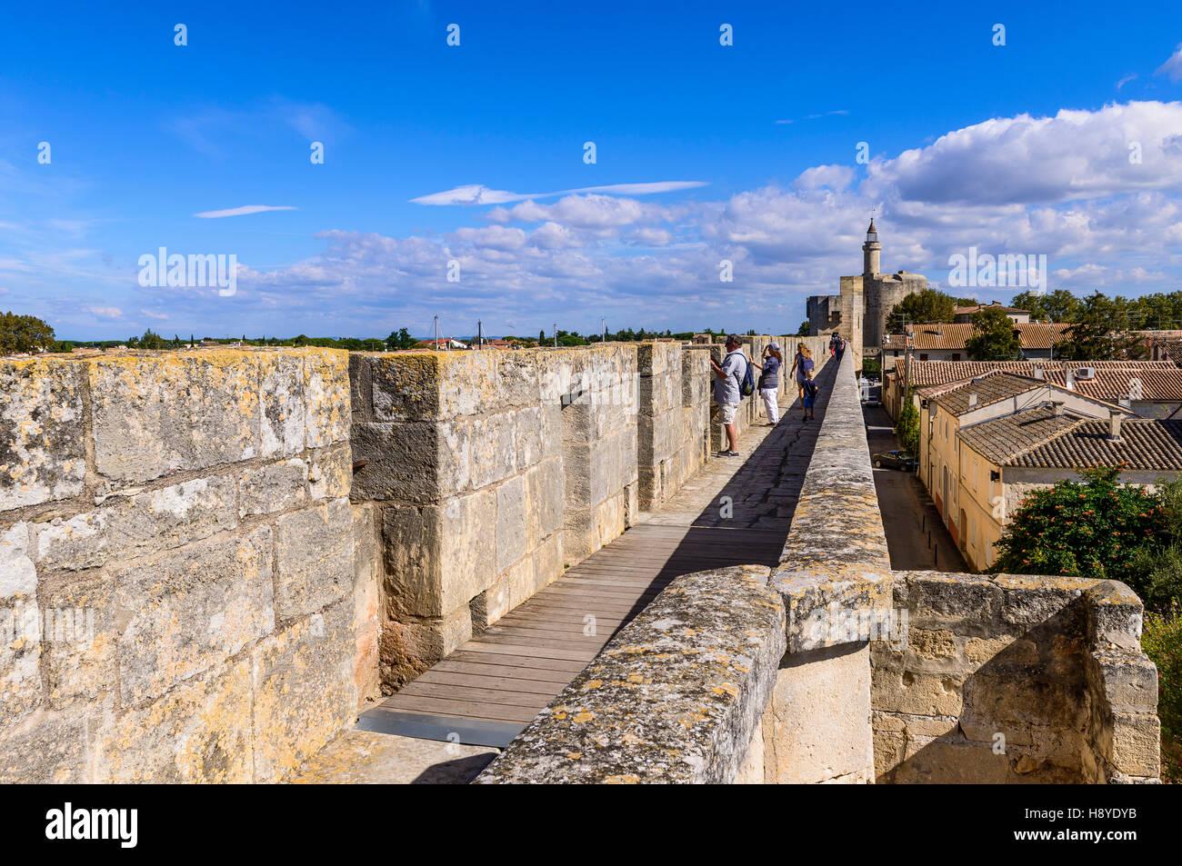 la tour de Constance Vue des Remparts Aigues-Mortes,Camargue AIGUES-MORTES - FRANCE - Stock Image