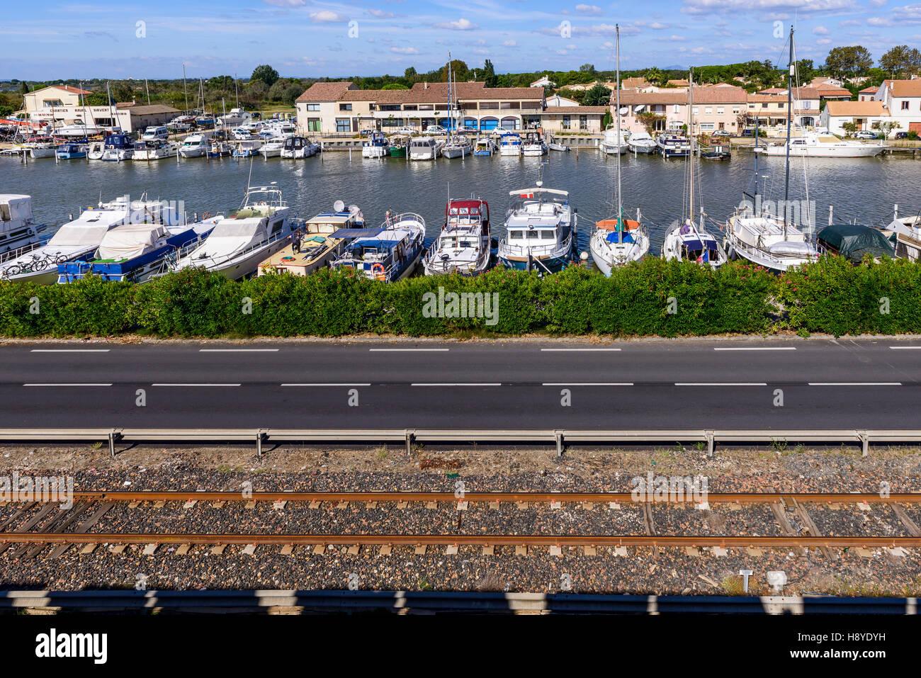 ville d'Aigues-Mortes,Camargue AIGUES-MORTES - FRANCE - Stock Image
