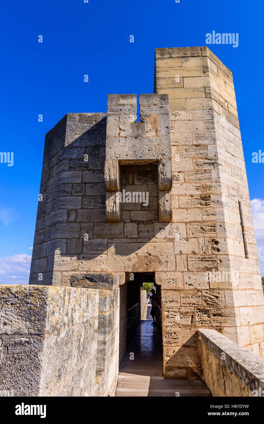 Les ramparts d'Aigues Mortes Camargue France30 - Stock Image