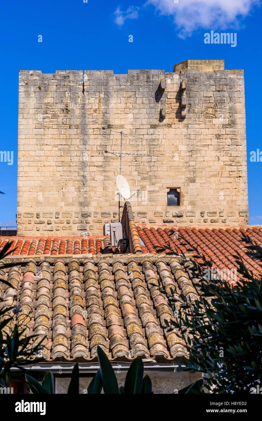 Maison typique de la ville d'Aigues-Mortes,Camargue AIGUES-MORTES - FRANCE - Stock Image