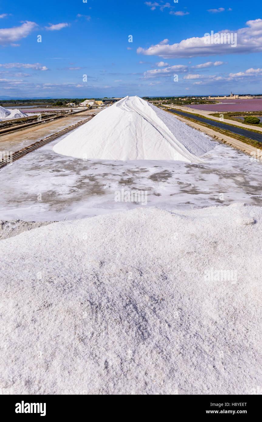 Les Salins du Midi Aigues-Mortes,Camargue - FRANCE 30 - Stock Image