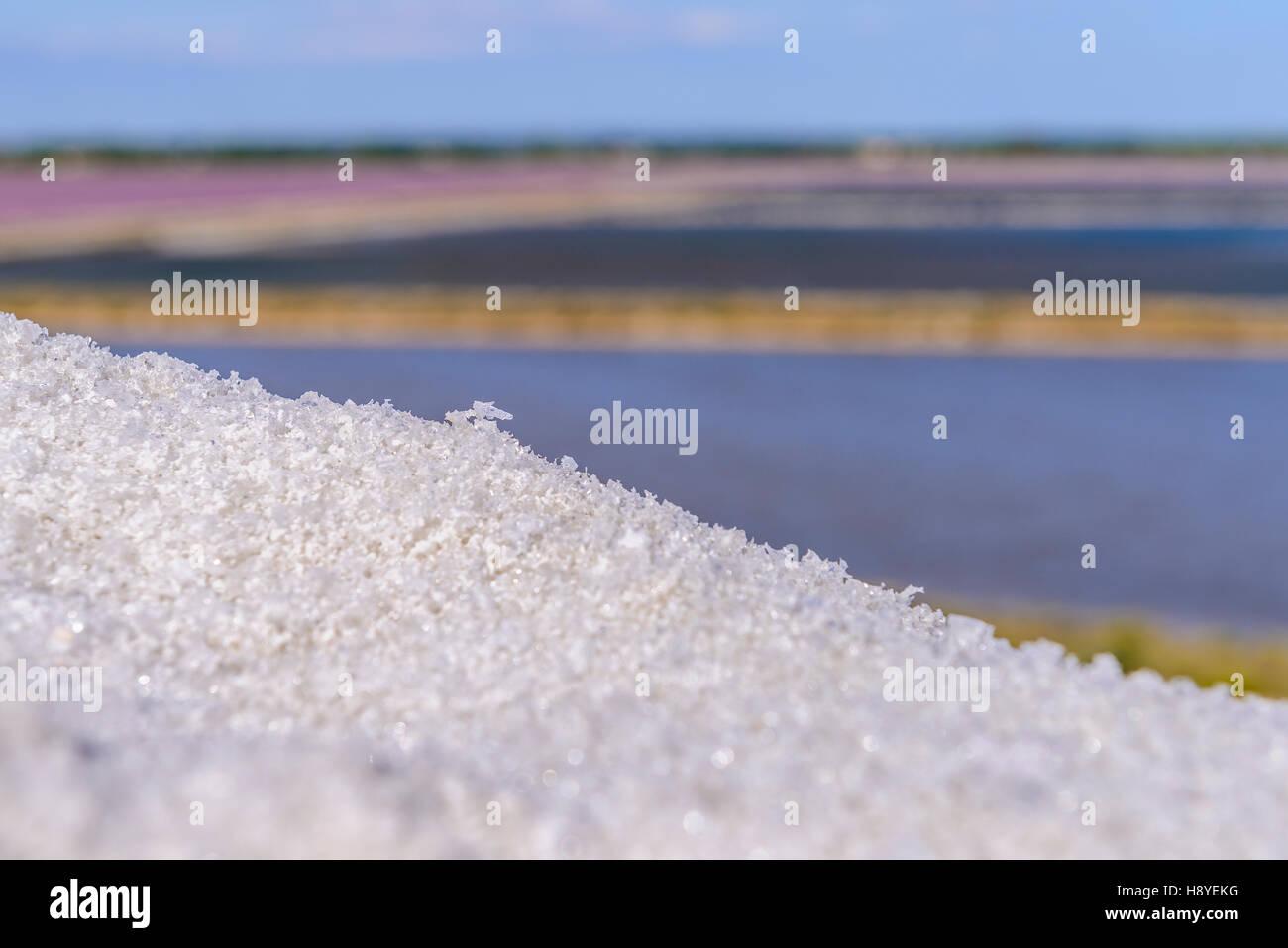Sel des Salins du Midi Aigues-Mortes,Camargue - FRANCE 30 - Stock Image