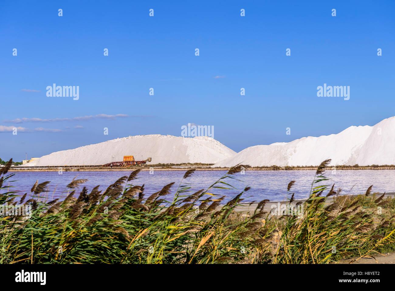 Réserve de Sel Les Salins du Midi Aigues-Mortes,Camargue - FRANCE 30 - Stock Image