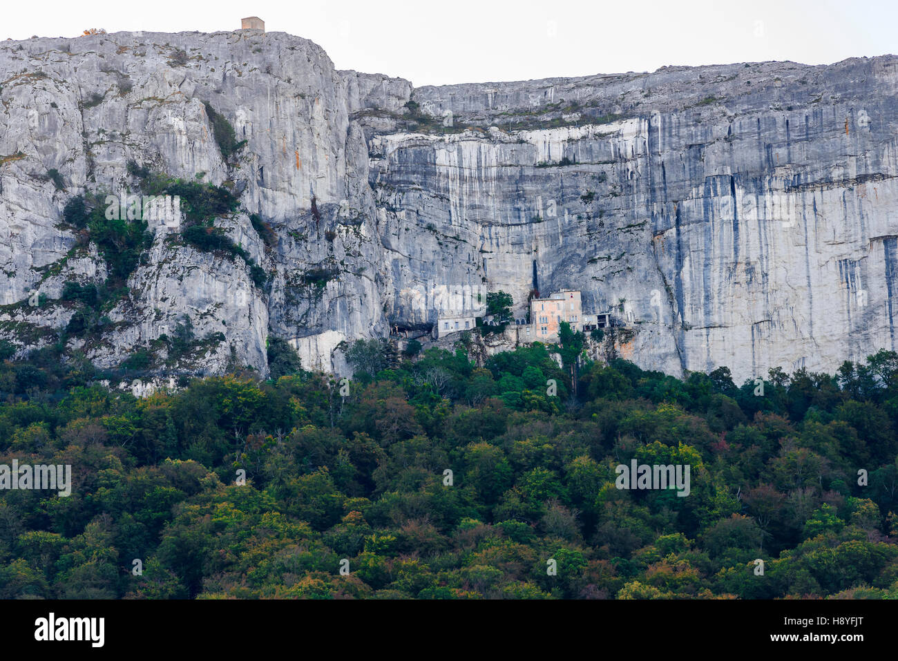 Montagne et monastere de la st baume Massif de la Sainte Baume, var france 83 - Stock Image