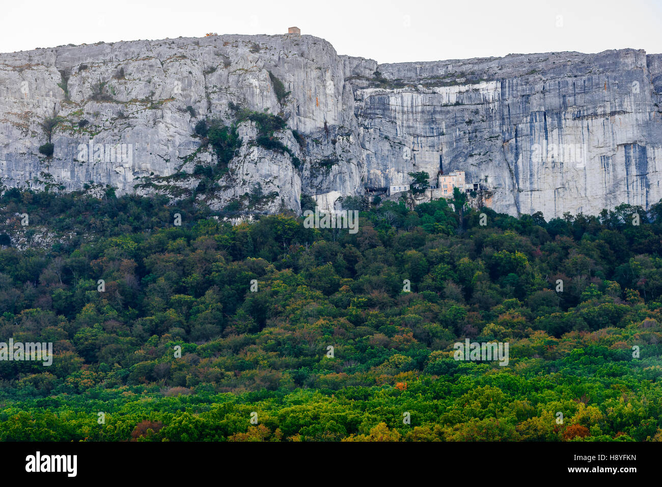 paysage et monastére de la st baume Massif de la Sainte Baume, var france 83 - Stock Image