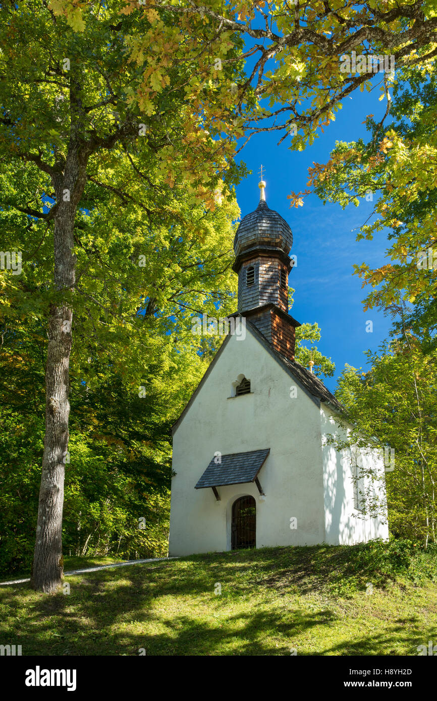 Prayer chapel on the grounds of Linderhof Palace, Ettal, Bavaria, Germany - Stock Image