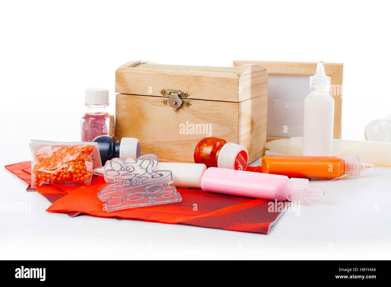 glass,glass paint,glue,decoupage glue,lacquer,decoupage lacquer,coating,lacquering,napkin,paper napkin,creative Stock Photo