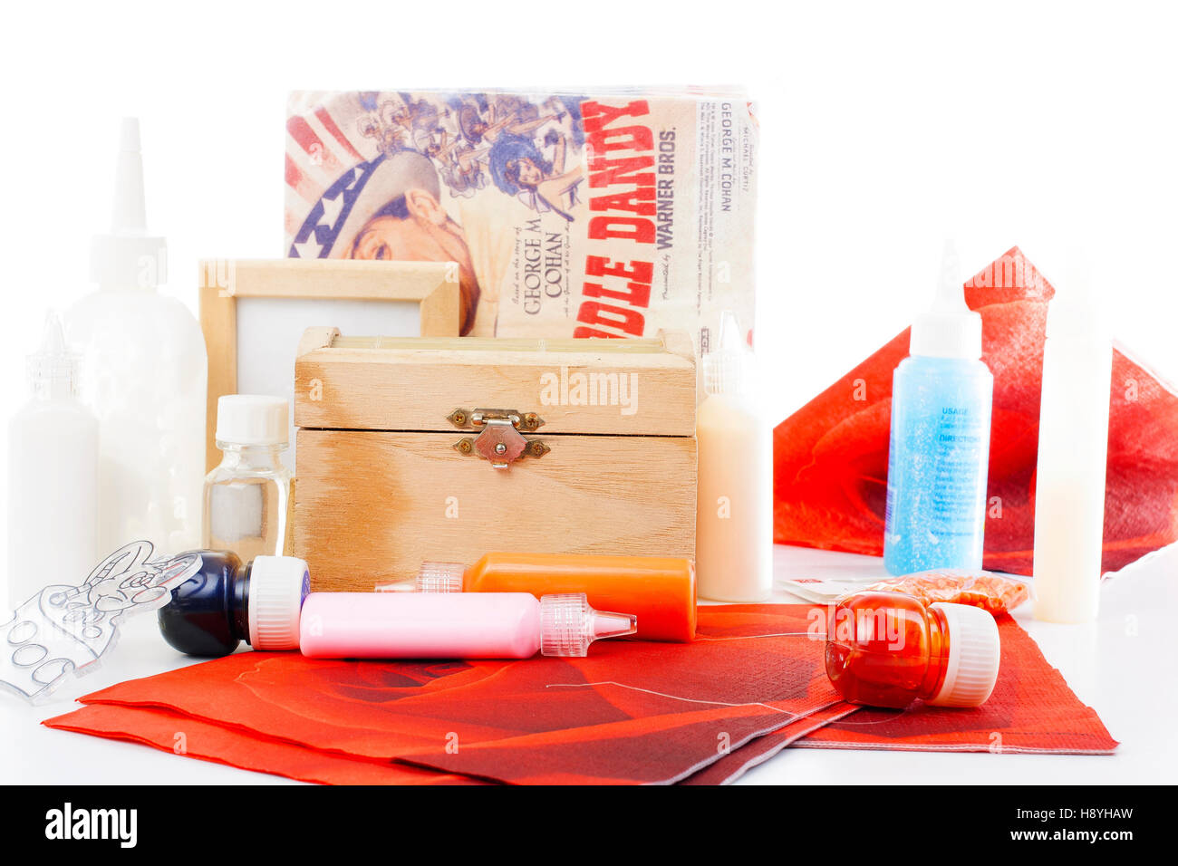 Glass Glass Paint Glue Decoupage Glue Lacquer Decoupage Stock Photo Alamy