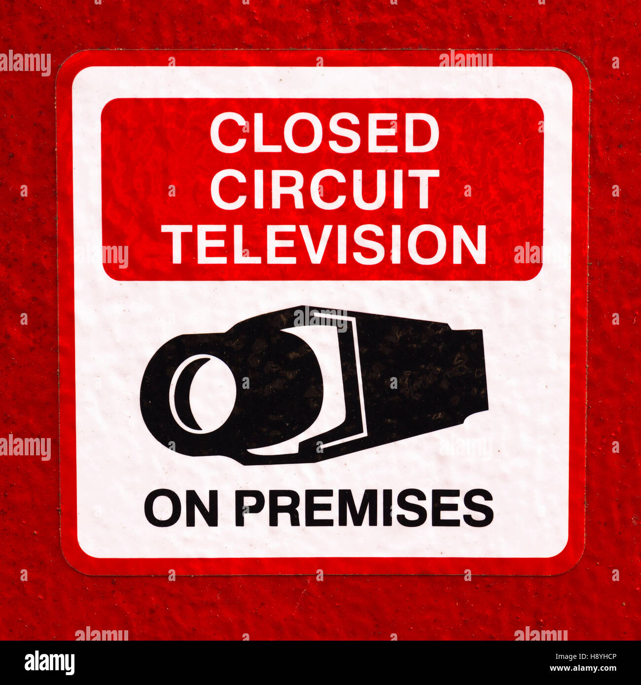 Sign 'Closed Circuit Television On Premises' - Stock Image