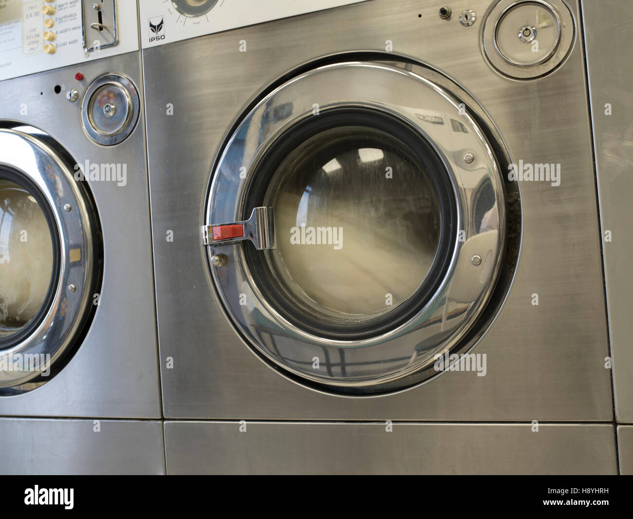 High resolution image of a working commercial washing