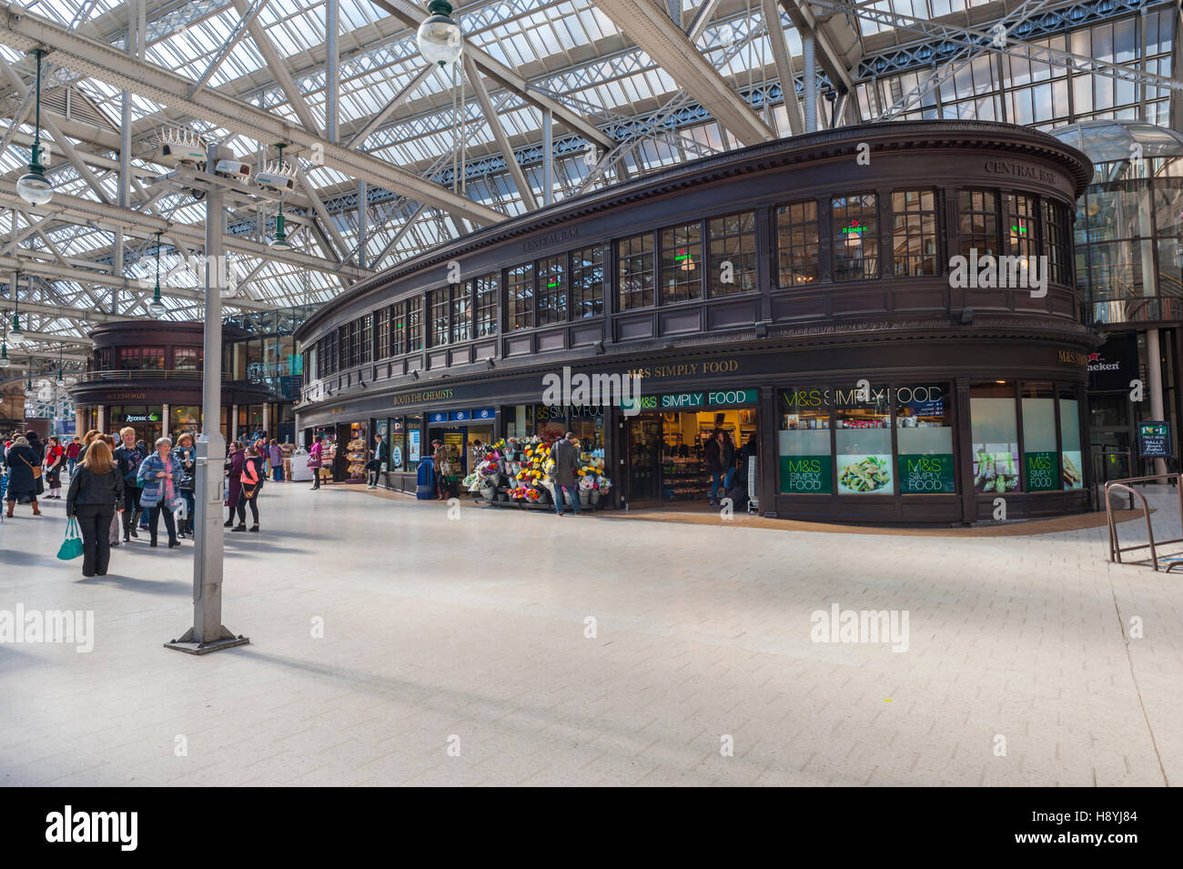 The old information building at Central station scotland. - Stock Image