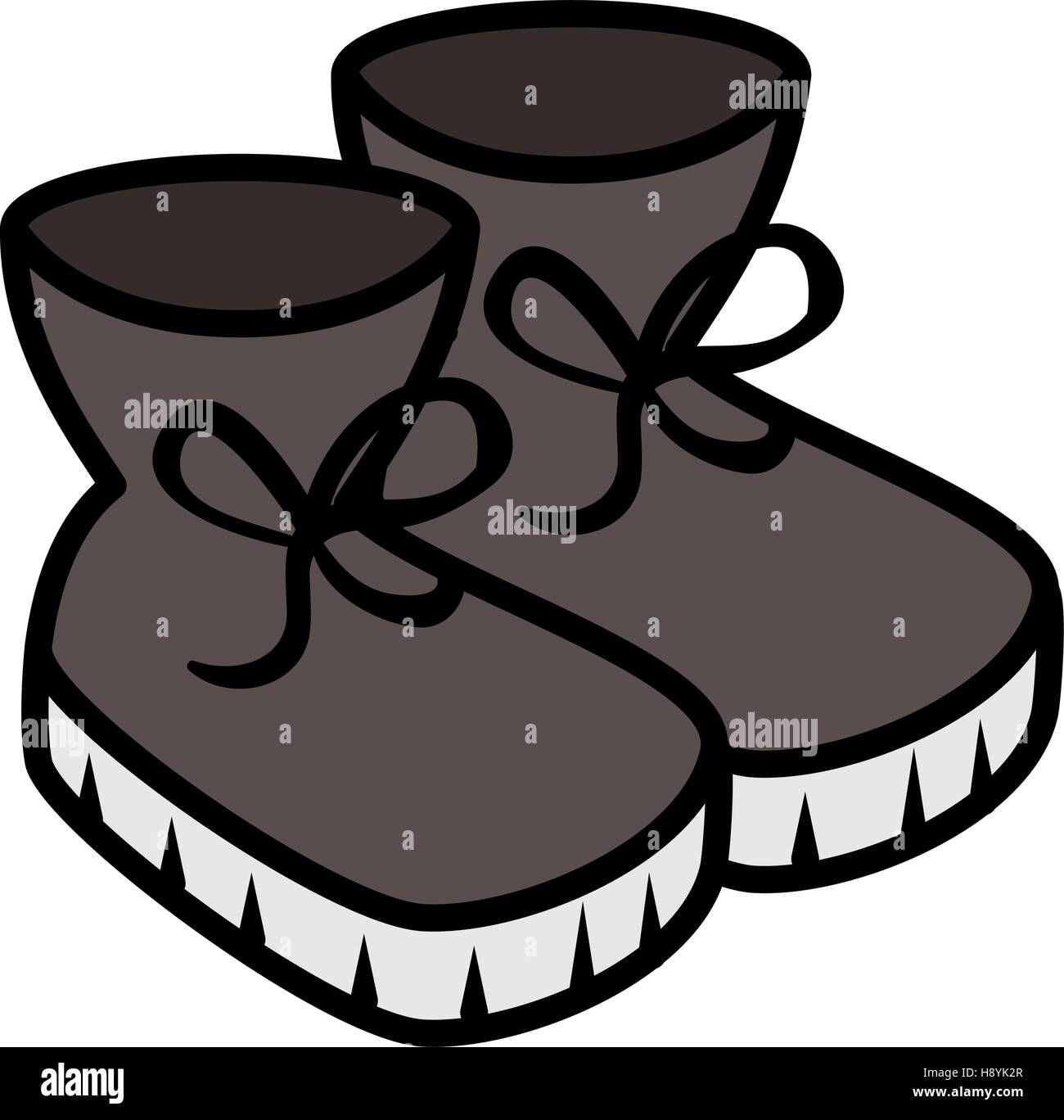 Winter Shoes Vector Icon Stock Photos & Winter Shoes Vector Icon ...