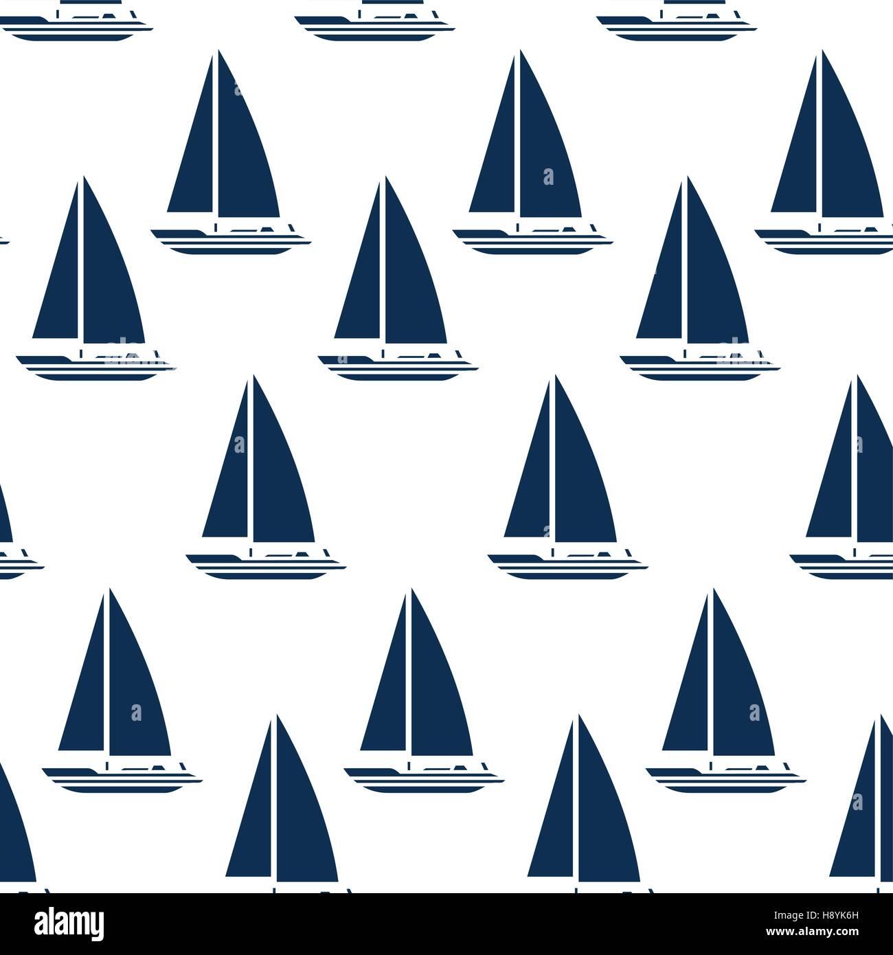 sailboat maritime frame icon vector illustration design - Stock Image