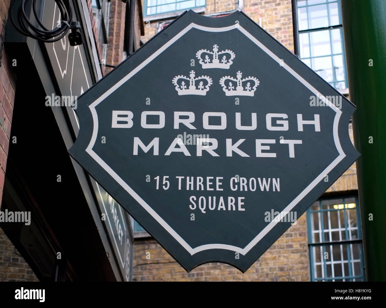 A sign is seen in Borough Market, London, Britain November 16, 2016. © John Voos - Stock Image