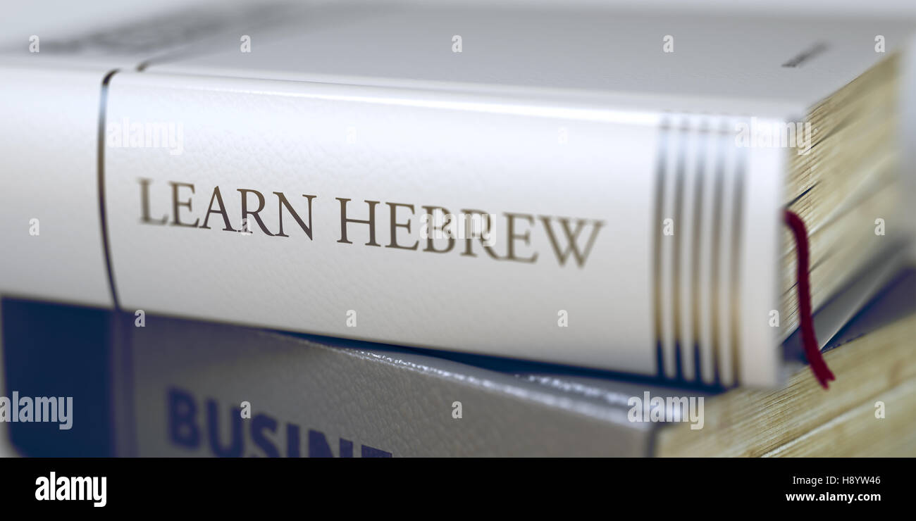 Book Title of Learn Hebrew. 3D. - Stock Image