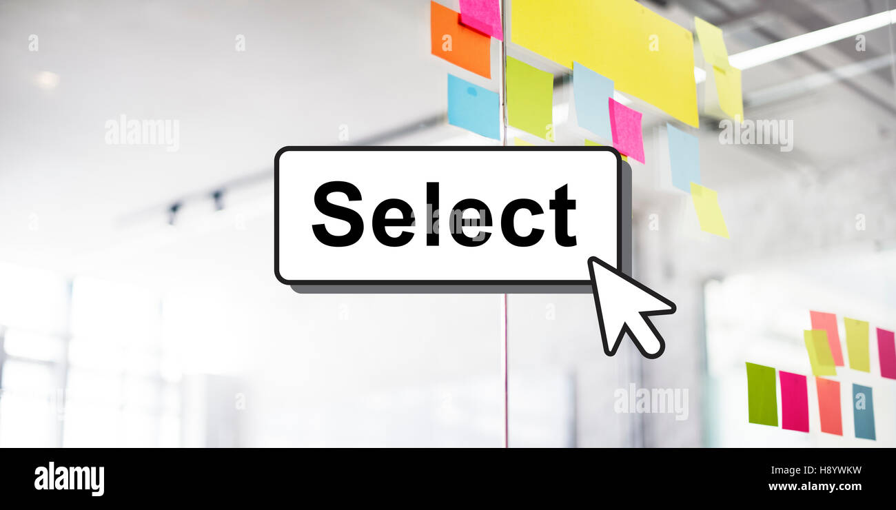Select Pick Selecting Compare Selection Targeting Concept - Stock Image
