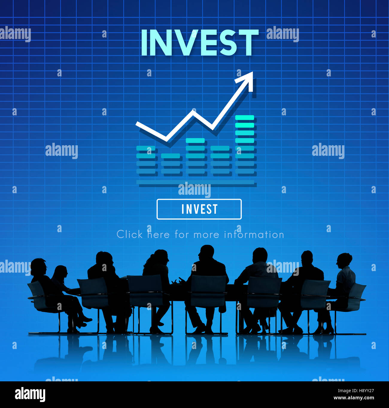 Invest Investment Financial Income Profit Costs Concept - Stock Image