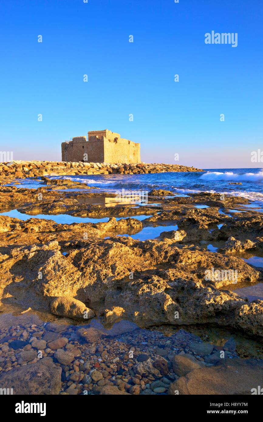 Paphos Castle, Paphos, Cyprus, Eastern Mediterranean Sea Stock Photo
