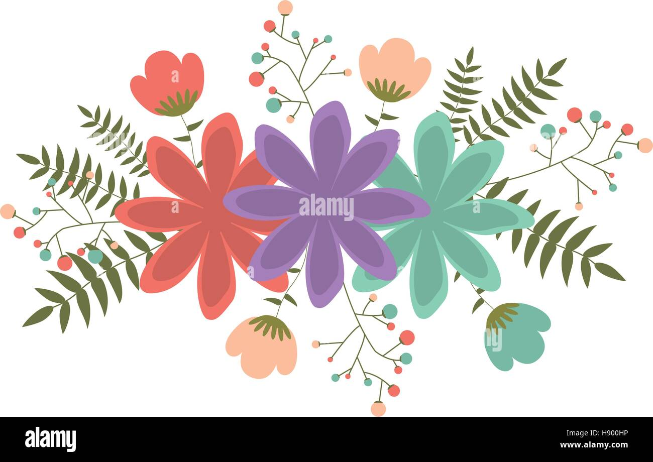 Flower Icon Decoration Rustic Garden Floral Nature Plant And Spring