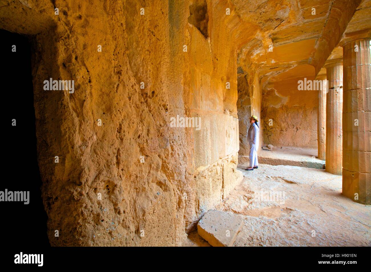 Tombs of the Kings, Paphos, Cyprus, Eastern Mediterranean Sea - Stock Image