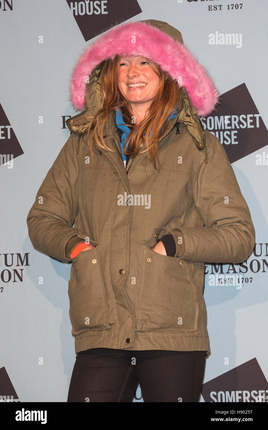 London, UK. 16th November 2016. Pictured: Olivia Inge. VIPs attend the launch party for Skate at Somerset House - Stock Image