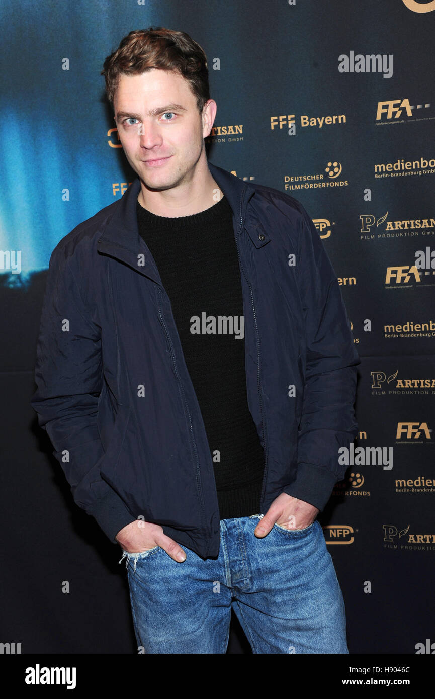 Actor Friedrich Mücke at the premiere of 'Marie Curie' in the Arri Cinema in Munich, Germany, 16 November - Stock Image