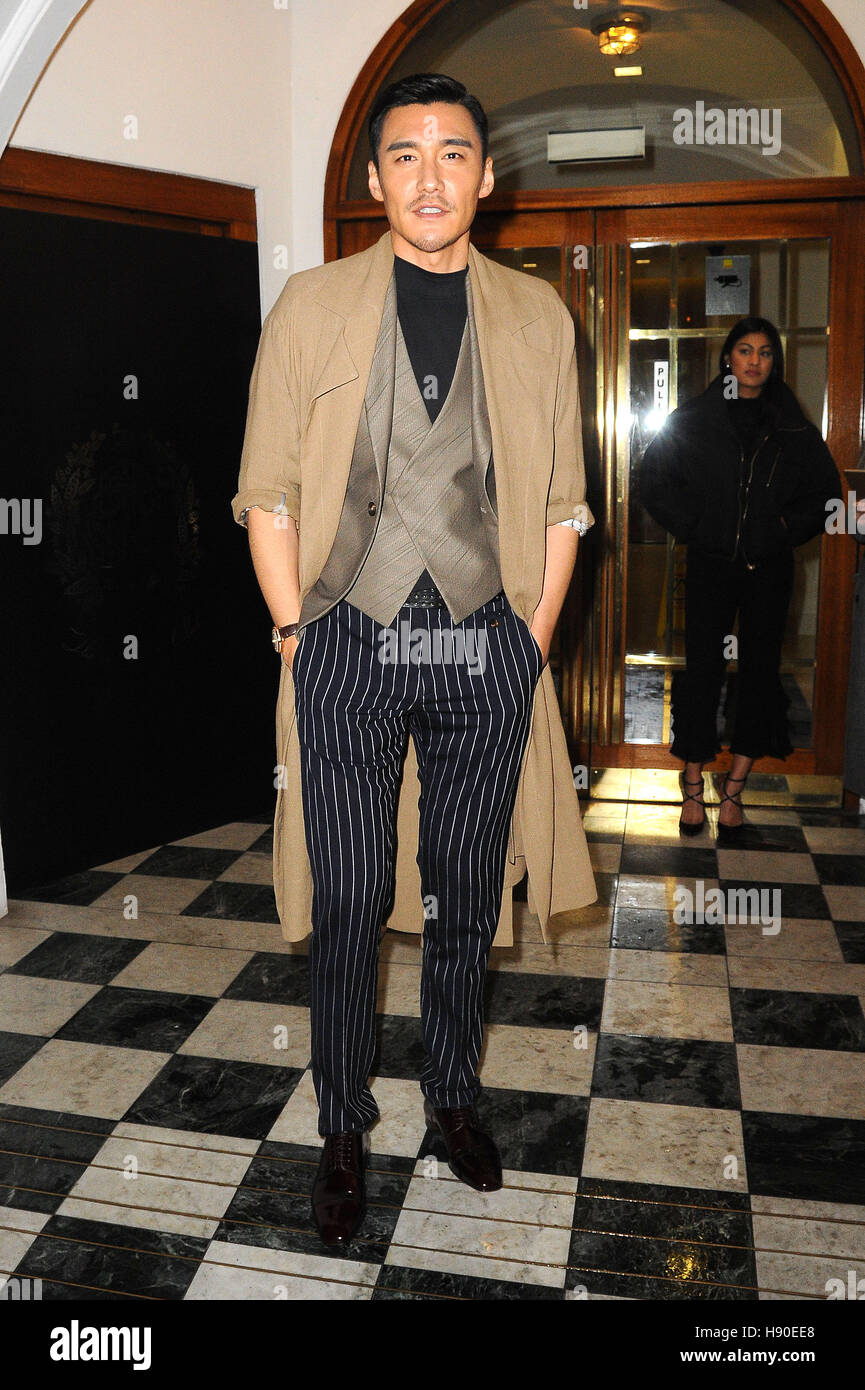 London, UK. 9th Jan, 2017. LFW MEN'S A/W GQ Magazine Closing Dinner Monkey House Dover Street London, UK. 09th - Stock Image