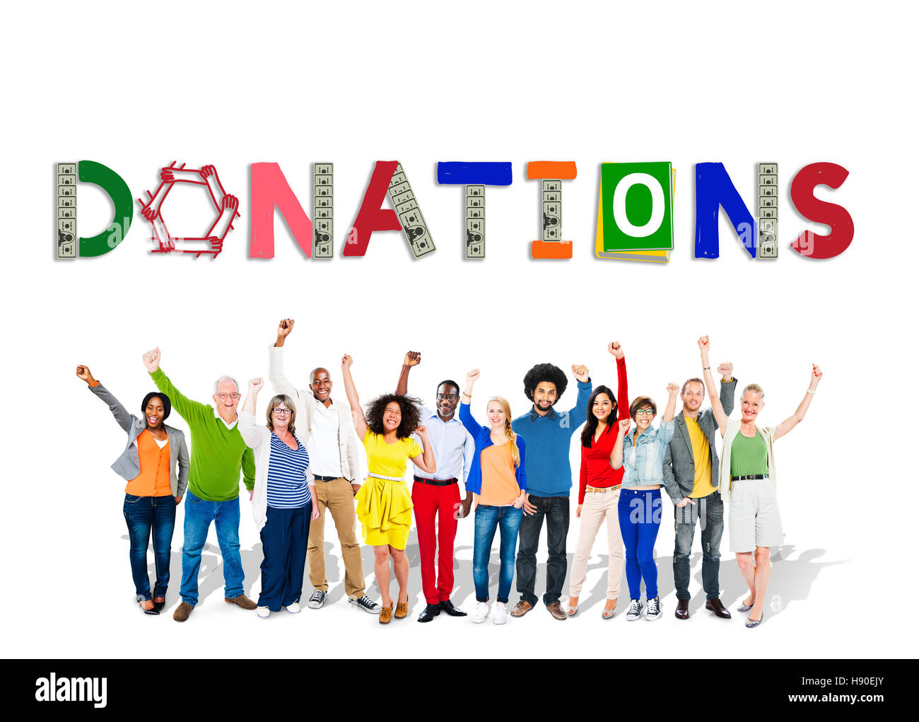Donate Give Charity Help Contribute Concept - Stock Image