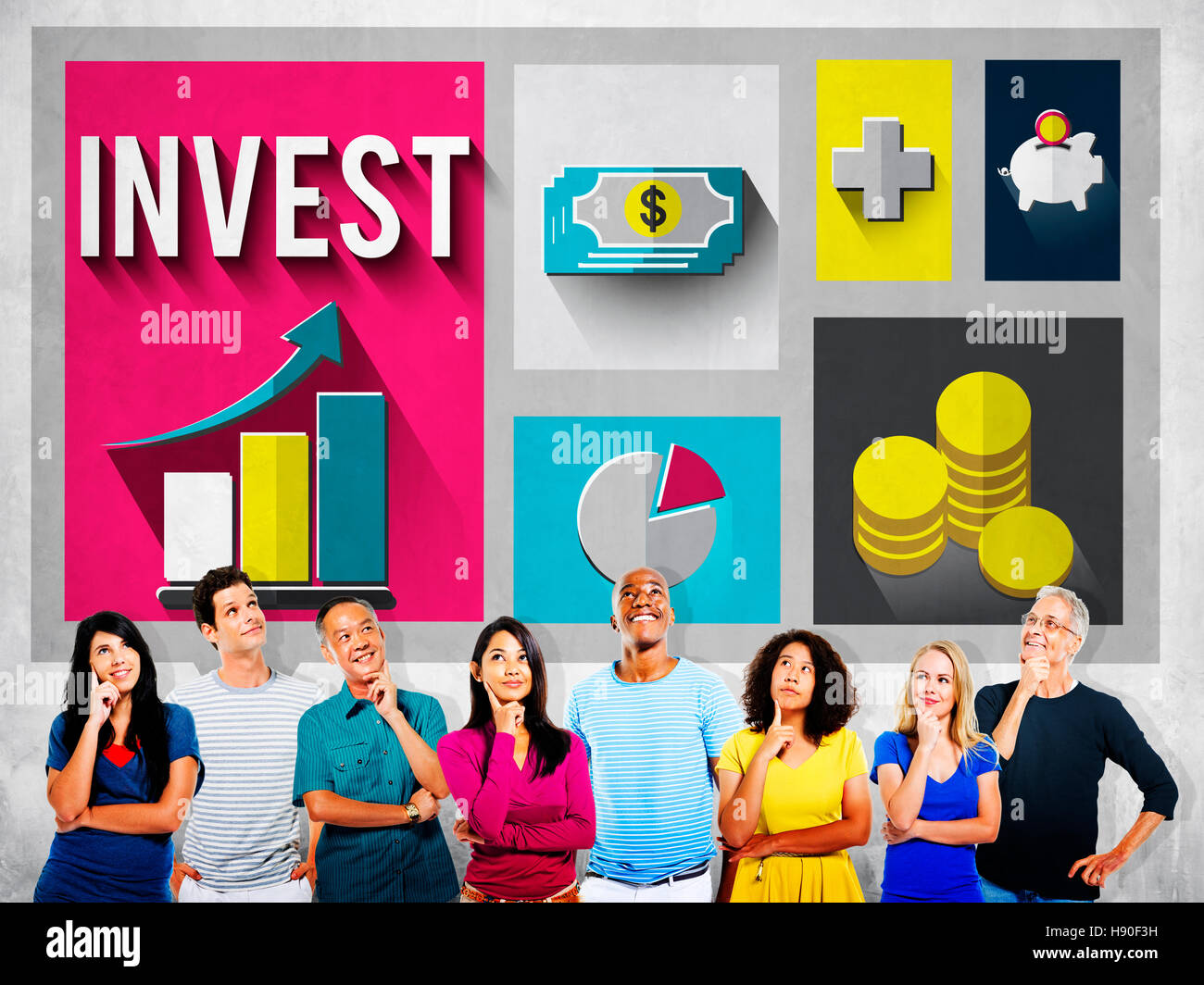 Invest Analysis Financial Economy Planning Concept - Stock Image