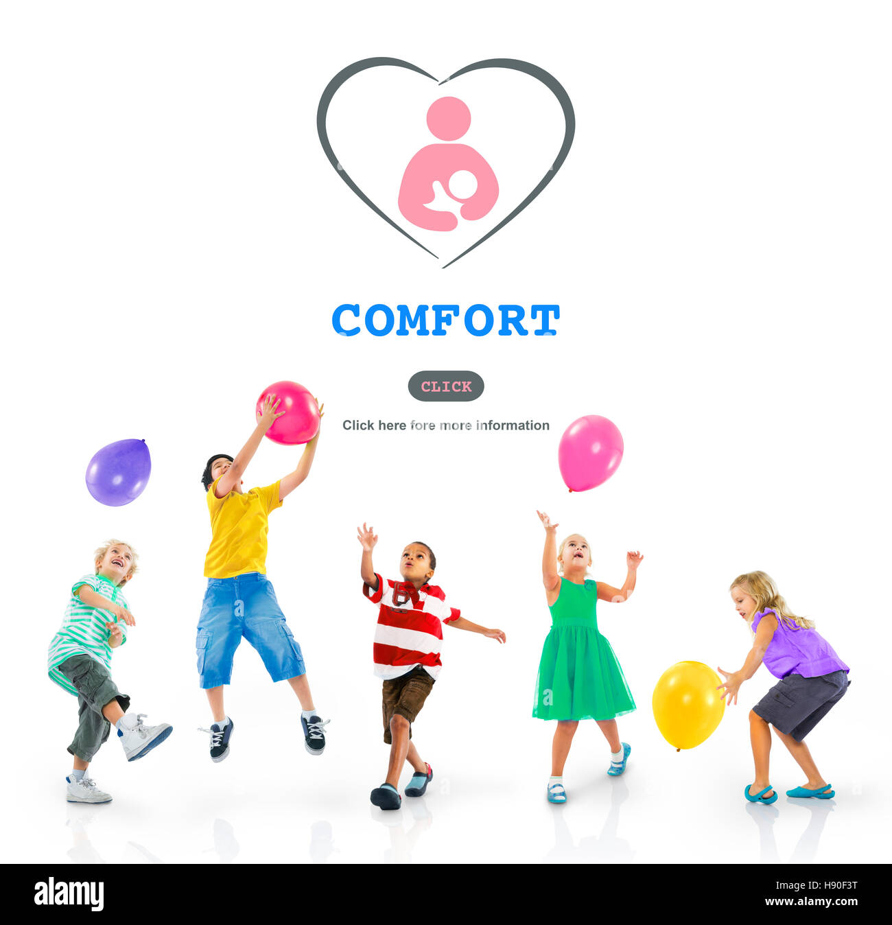 Child Training Comfort Affection Nursery Concept - Stock Image
