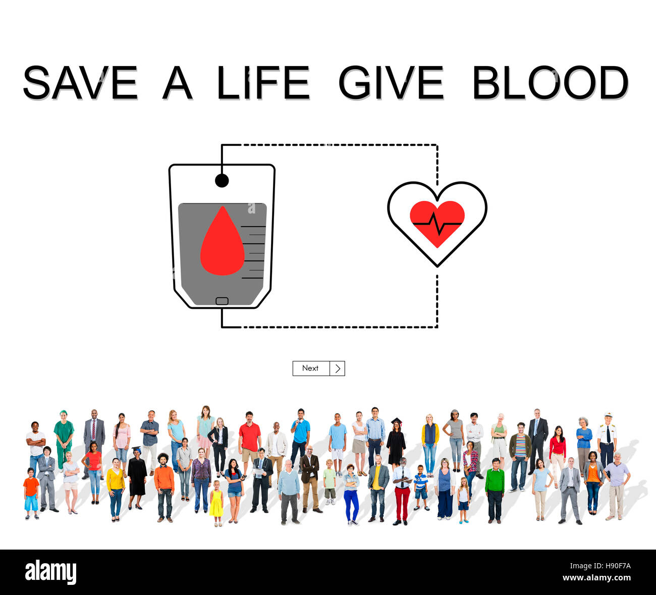 Blood Donation Give Life Transfusion Sangre Concept - Stock Image