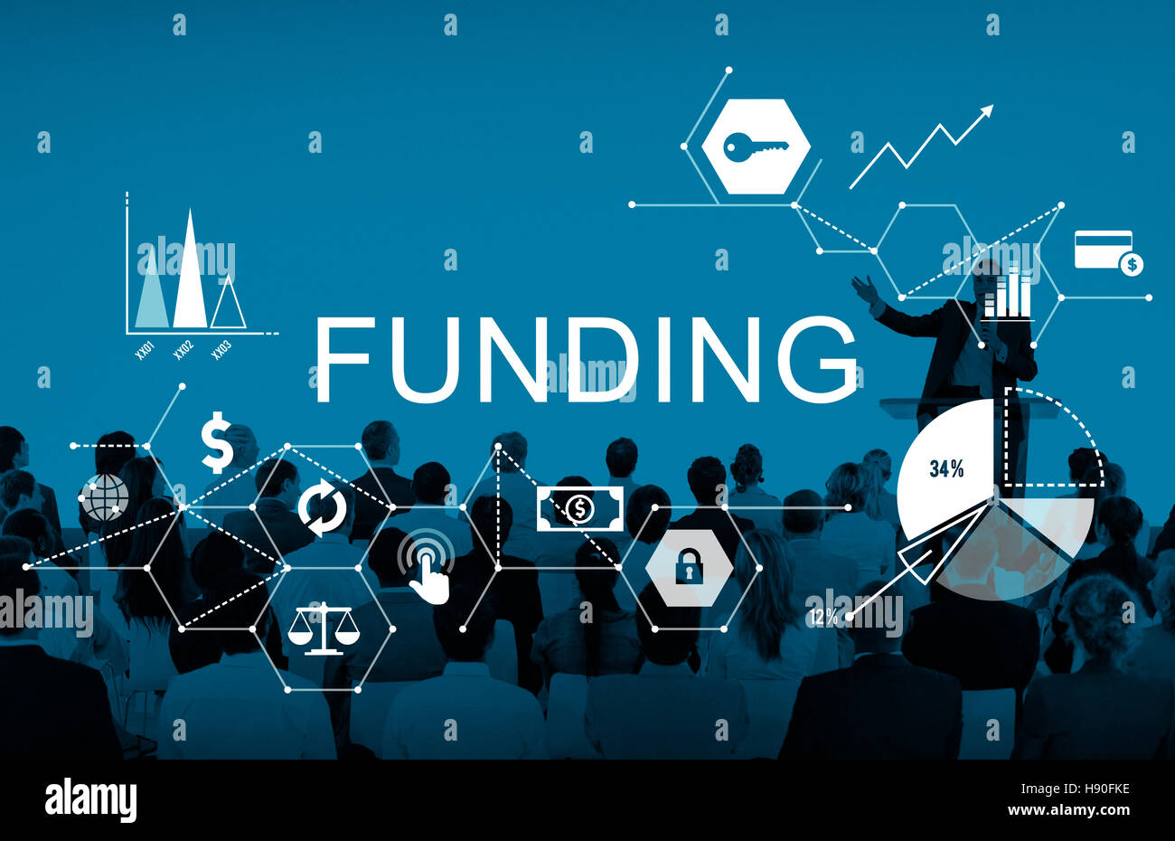 Funding Invest Financial Money Budget Concept - Stock Image