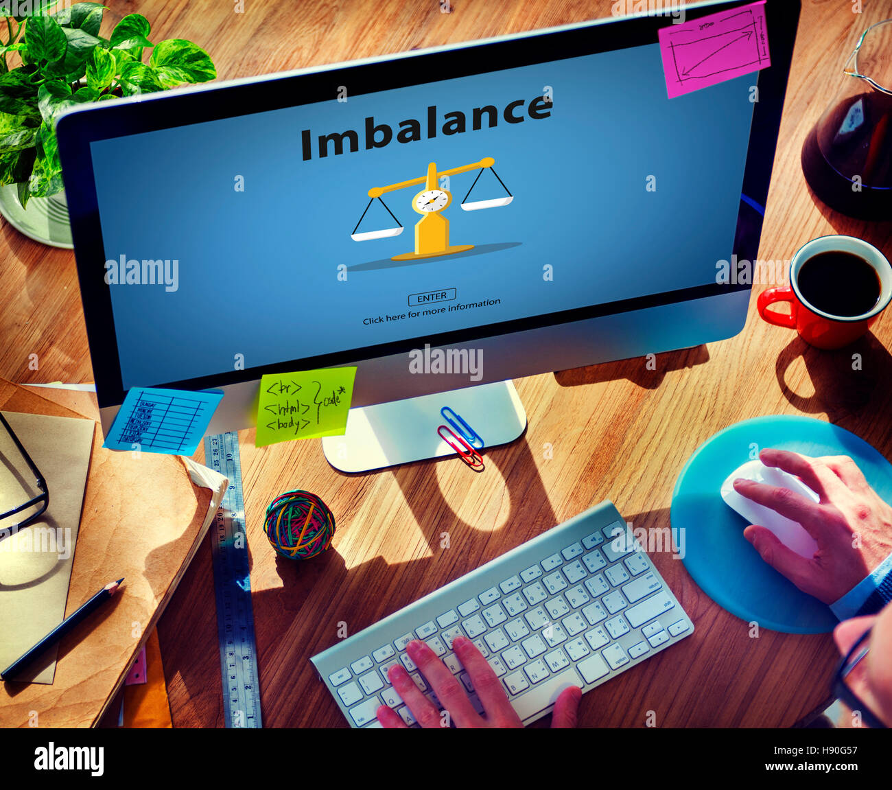 Imbalance Choice Comparison Complexity Risk Concept - Stock Image