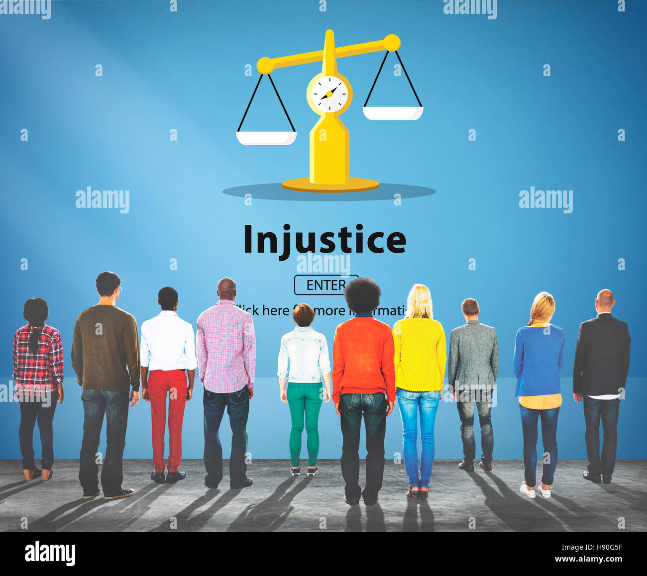 Injustice Inequity Conflict Rebellion Antagonism Concept - Stock Image