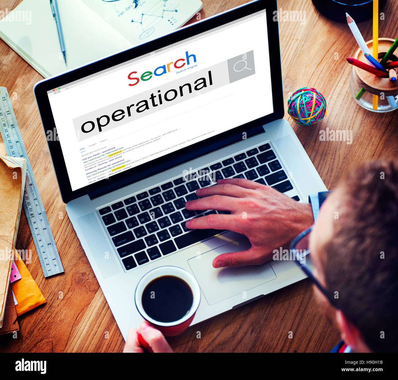 Operation Practical Prepared Effictive Concept - Stock Image