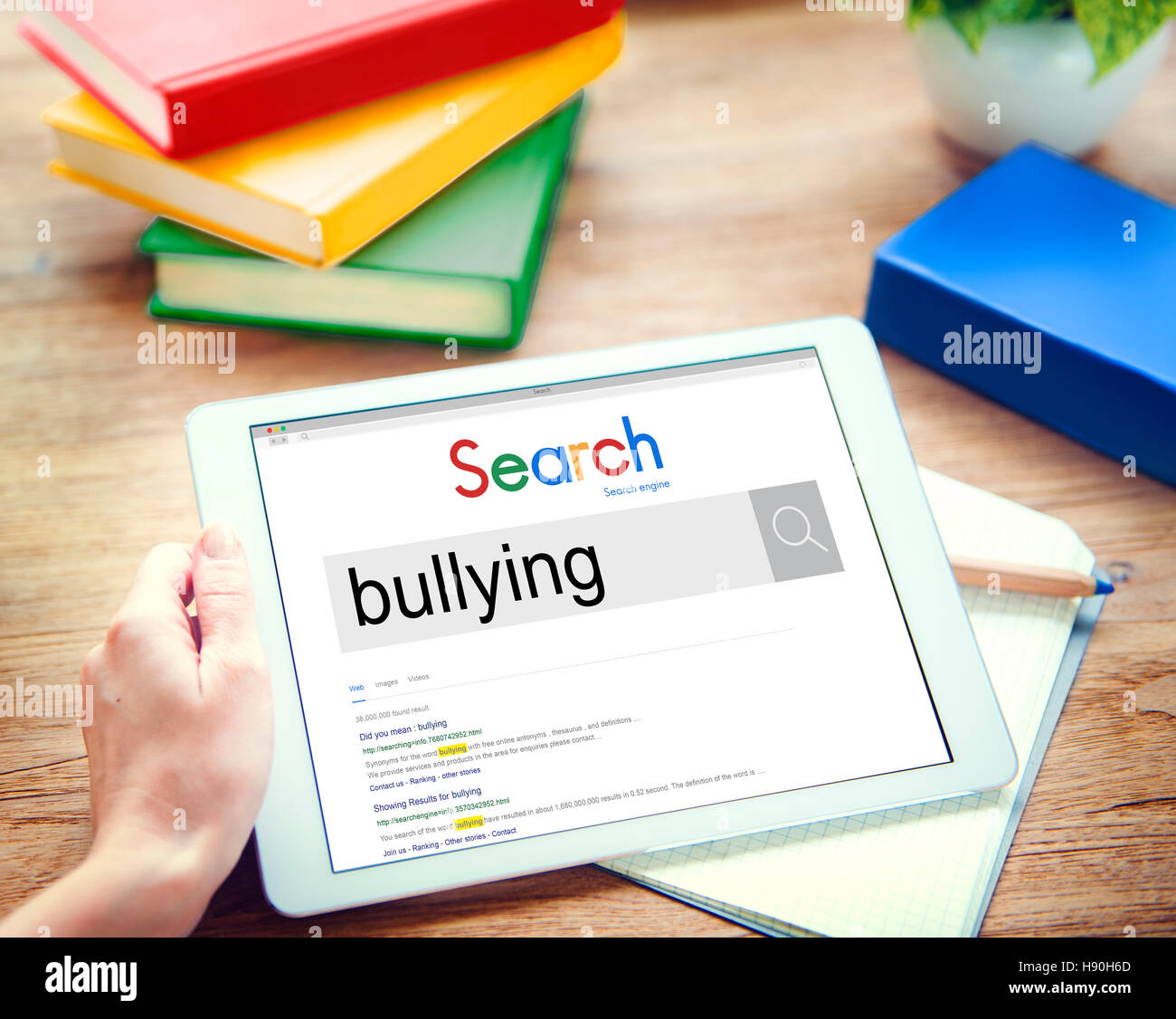 Bullying Force Totment Tyrannise Scare Oppression Concept - Stock Image