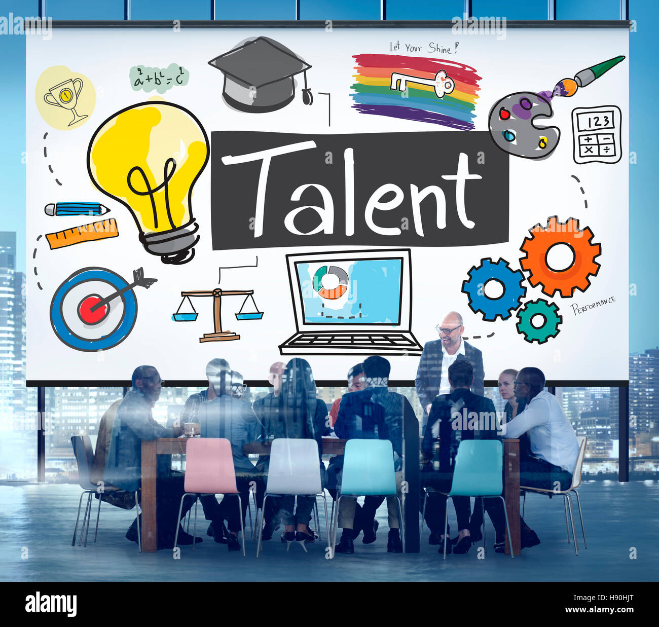 Talent Expertise Natural Skill Occupation Skills Concept Stock Photo