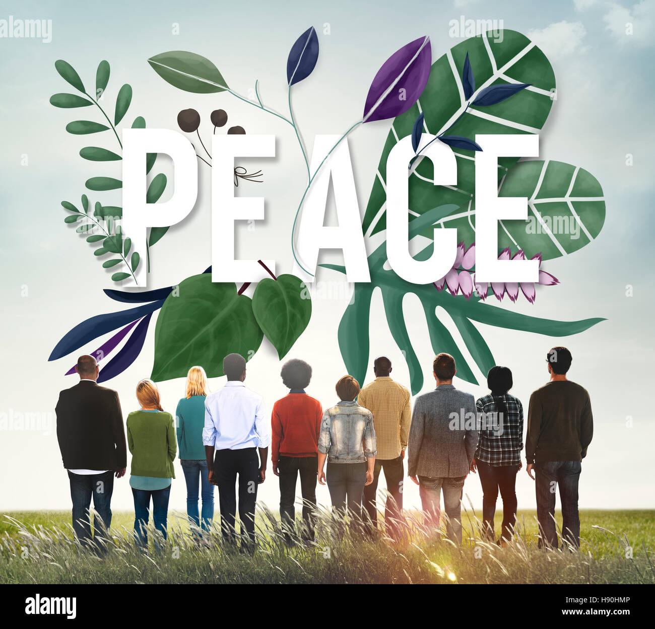 Peace Calm Free Nonviolence Privacy Solitude Zen Concept - Stock Image