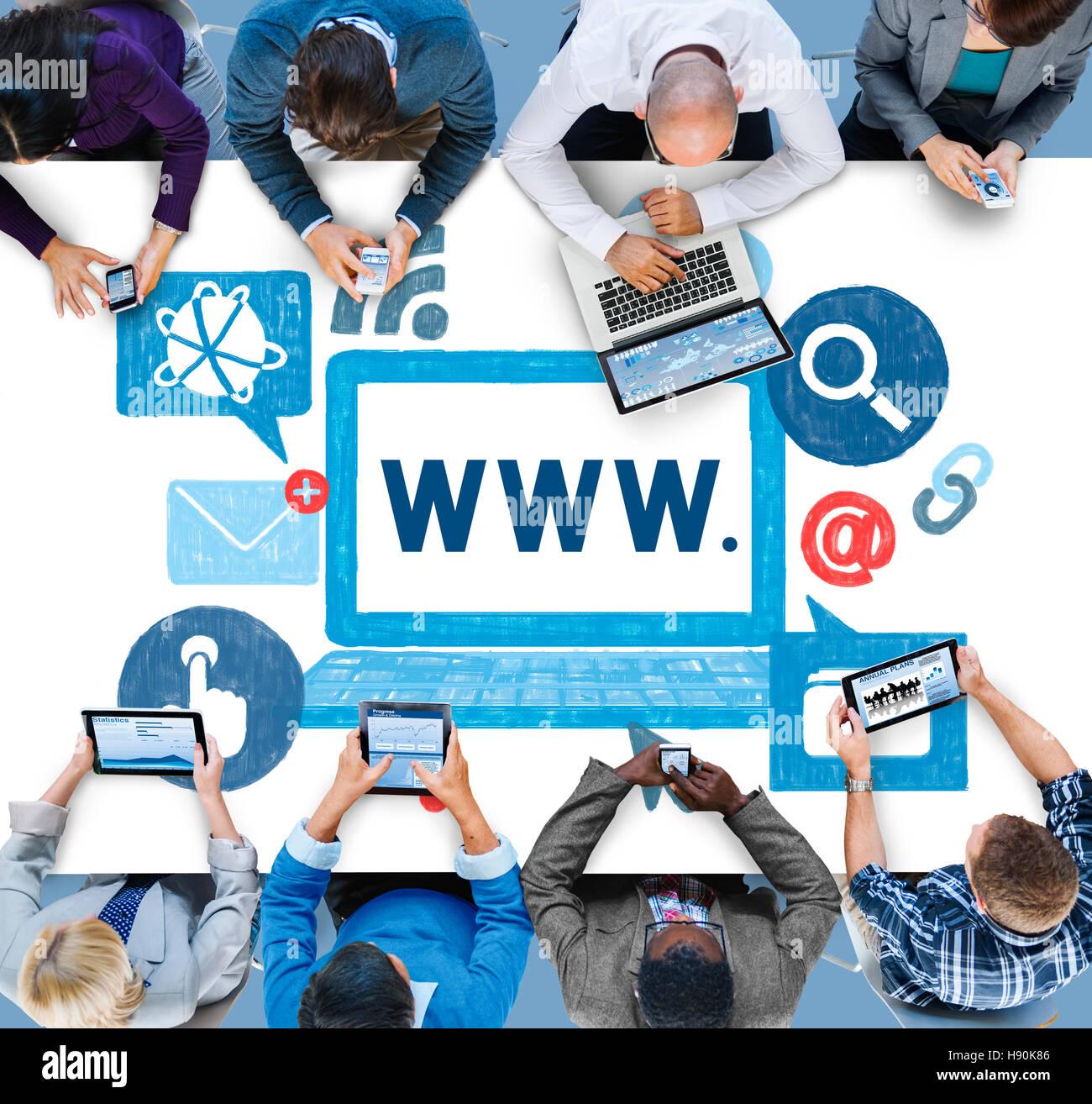 World Wide Web Internet Online Illustration Concept - Stock Image