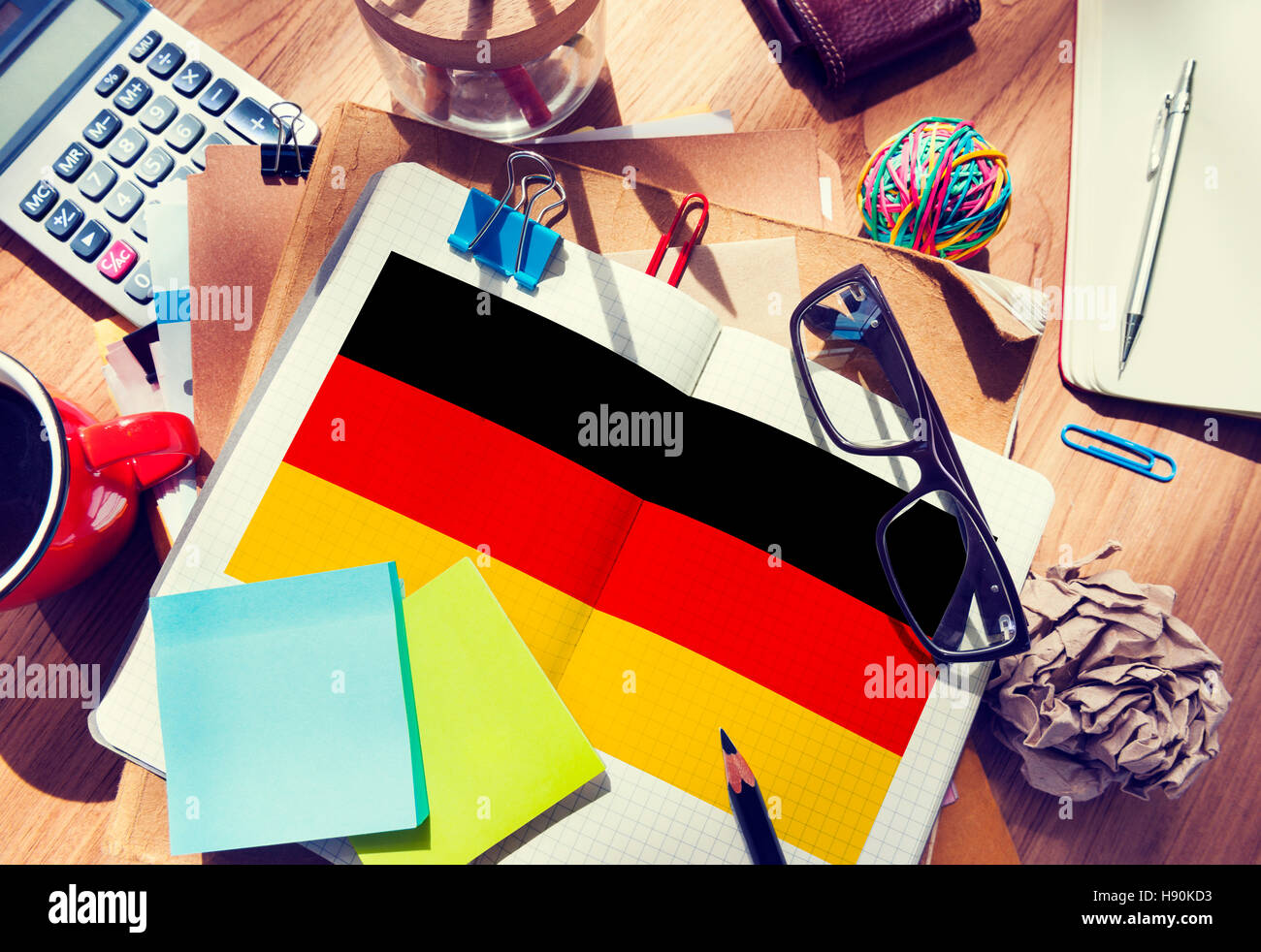 Germany Country Flag Nationality Culture Liberty Concept - Stock Image